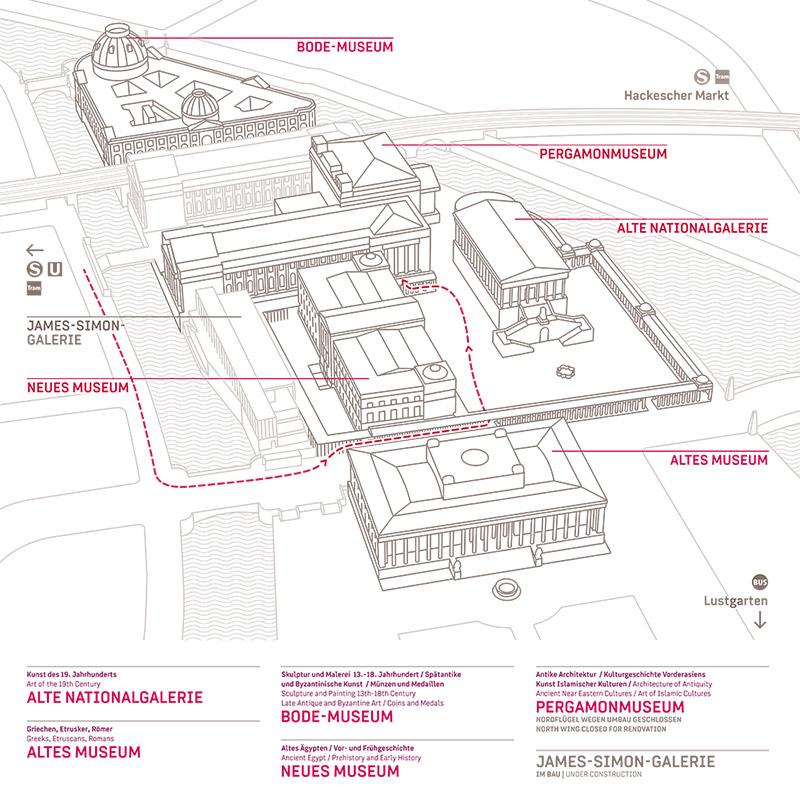 Mapa - Ilha dos Museus - Berlim