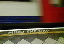 metro londres mind the gap