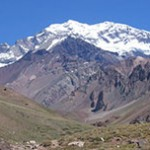 Mendoza, cidade na Cordilheira dos Andes no lado Argentino