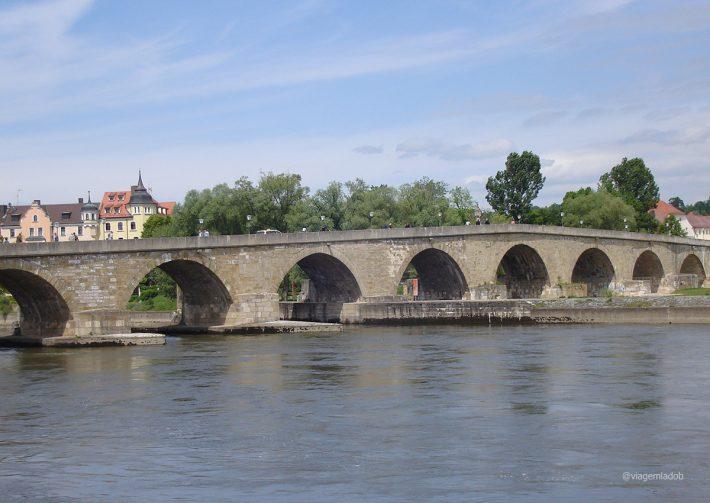 Regensburg - Ponte rio Danubio - Alemanha